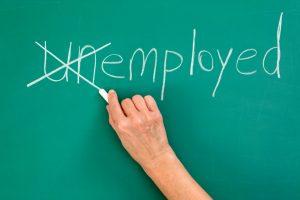 Changing unemployed to employed.