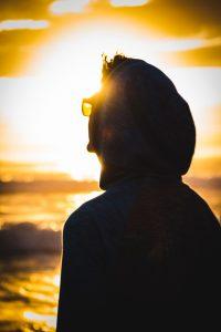 man in the sun